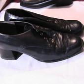 скидка на УП 10%!! кожаные туфли синие 37р стельки 24 см Caprice Германия