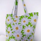 Идея для подарка! Ромашки! Очаровательная сумка из хлопка!