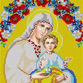 """Схема для вишивки """"Матір Божа"""" зашмвається все крім лиця та рук"""