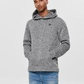 Мужское худи,вязанный верх,внутри начес,датская фирма Only & Sons размер на выбор!Качество