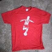 Мужская футболка размер Л стопроцентный хлопок