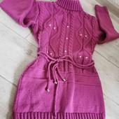 Кофта туника платье,134-146см сост отличное