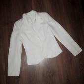 Пиджак белый, S-M. Лен