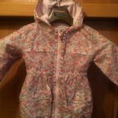 Куртка. ветровка, размер 1,5-2 года 92 см, Next. состояние хорошее