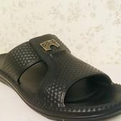 Фирменные мужские шлепки легкие пена эва, черные 42р' 27.5 см