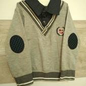 Кофта-рубашка 92р.Турция(собирайте мои лоты)