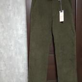 Фирменные новые мужские вельветовые брюки 100%коттон р.34-31 на пот-42,5-44 поб-54-55