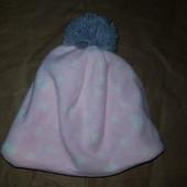 Розовая теплая флисовая шапочка Dopodopo 116-128р