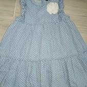 Платье лёгкое летнее натуральное 2-4года