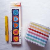 Отличный набор из 3 предметов ластики, клей, бумага