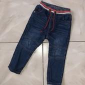 Стоп !❤на подкладке! Для модняшки-пацаняшки,крутые фирменные джинсы,1-2 года❤ Много лотов!