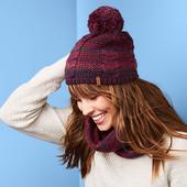 ☘ В'язаний комплект на флісі: шапка + снуд від Tchibo (Німеччина), розмір універсальний