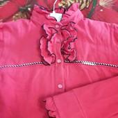 Тепла блузочка для дівчики р.140, для школи