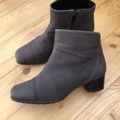 Ботинки из натуральной кожи (нубука)стелька 24.5см