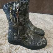 Модные демисезонные ботинки на девочку, р-р 32-35р