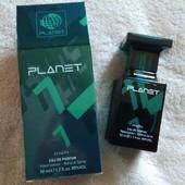 Парфюмированная вода planet edp for men green №7, 50 мл