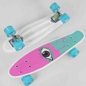 Скейт пенни борд  Best Board, колеса PU светятся, d=4.5 см, доска=55 см