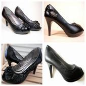 Супер цена! Туфли 4 модели с открытым носком! Удобные, все размеры! 36-40.