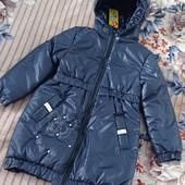 Весна! Удлиненная курточка для девочек, р.110