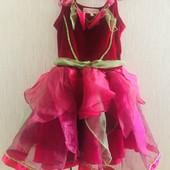 Платье карнавальное, костюм цветка, рост 98
