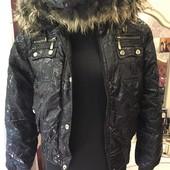 Новая теплая курточка, размер 50+-, смотрите замеры.