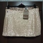Фирменная новая красивая юбка в пайетку р.12-14.
