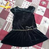 красивое бархатное платье 2-3 года