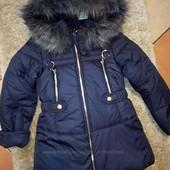 Зимняя курточка-парка для девочек, р.116