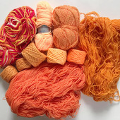 Нитки. Пряжа для вязания. Акрил. Лот 340 г