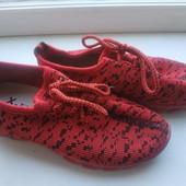 Текстильные кроссовочки для девочки, размер31, стелька 18.5 см.