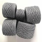 Нитки. Пряжа для вязания. Шерсть или полушерсть. Лот 400г