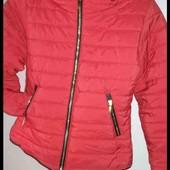 Стёганая куртка с утеплённым воротником и потайным капюшоном