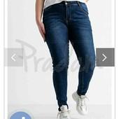 Батальные,синие,стрейчевые джинсы