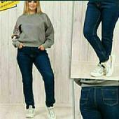 Стильные джинсы на флисе