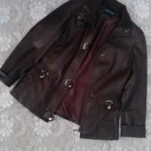 Куртка темно-коричневая Весна-осень Кожзам