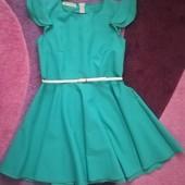 Красивое летнее платье бирюзового цвета р 48-50