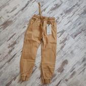 Стильные брюки' плотные Венгрия горчично коричневый ✓✓р140 ✓✓80/59 см