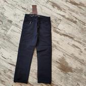 Стильные удобные брюки коттон, зауженные р16 ✓,103/78 см ✓темно синий цвет