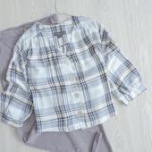 Укороченая блуза в клетку