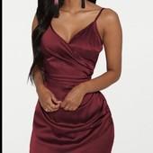 Платье в бельевом стиле, платье по фигуре с драпировкой