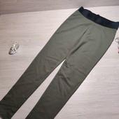 Германия!!!! Трикотажные подростковые лосины модного цвета хаки! 146/152!