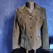 Собирай лоты) Экономь на доставке) Классный замшевый пиджак куртка на подкладе.Натуральная Размер Л