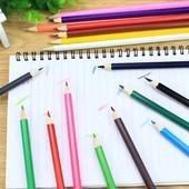 Цветные карандаши 12шт. Чркие цвета.