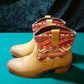 Кожаные деми ботинки Trafaluc, ориг. Индия, разм. 37 (24 см по бирке). Сост. отличное!