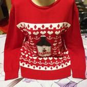 Шикарный ярко красный тёплый стречь свитерок новый.Акрил.Astral.xl,xxl,3xl. Лотов много