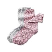 Лот 2пары!!!Вязаные, теплые носки из хлопка, плотная вязка от Tchibo (Германия), р.35-40