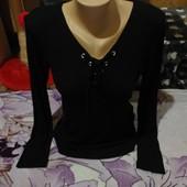 Эксклюзивный чёрный стречь свитерок. Вискоз98%. Esmara.l,xl,xxl. Смотрите лотов много