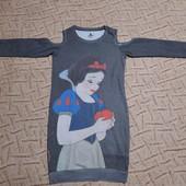 Трикотажное платье туника на весну доя девочки от Disney