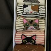 Набор носков для девочек женщин с котиками