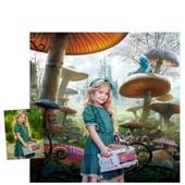 Профессиональный цифровой Портрет с заменой фона Alice in Wonderland с заменой фона,на Выбор